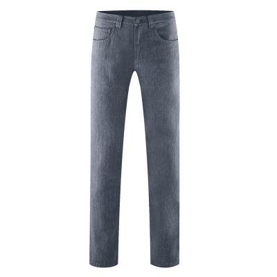 Pantalon motif chevrons gris foncé