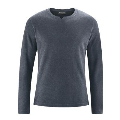 T-shirt manches longues, découpe gris foncé