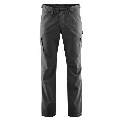 Pantalon cargo chanvre et coton bio noir
