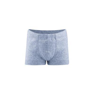 Boxer enfant coton bio bleu mélangé