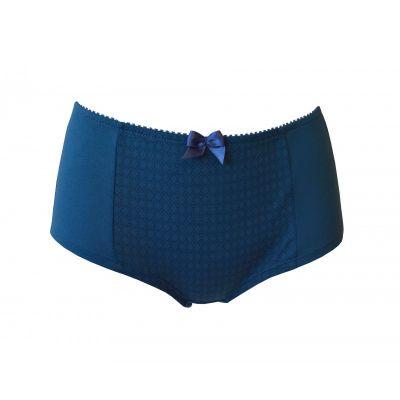 Boxer bleu femme 100% coton bio