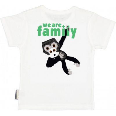 T-shirt coton bio blanc verso Gorille avec le soutien à l'association We are Family