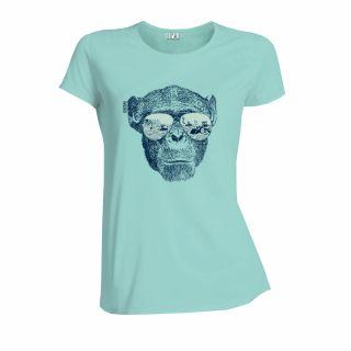 T-shirt éthique turquoise femme en coton bio lavande Homo Eradicus