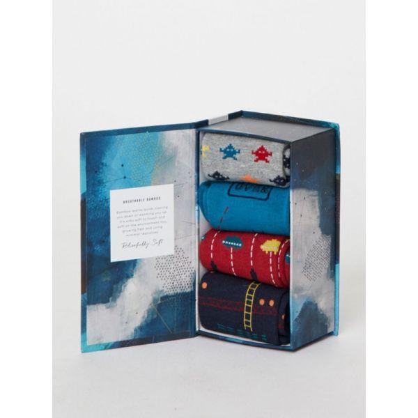 Homme de Voyage Doux Bambou Chaussettes Boîte de 7 Taille 7-11 par réflexion
