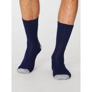Chaussettes bleu marine homme en bambou