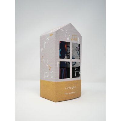Boîte cadeau, paires de chaussettes bambou avec illustrations
