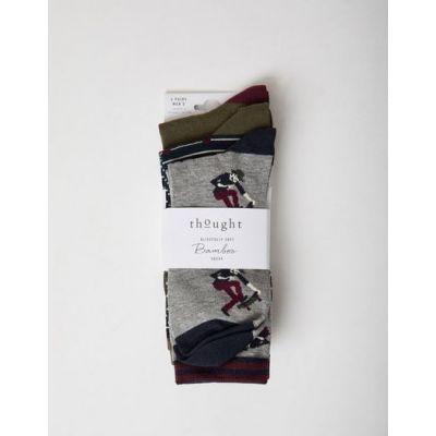 Pack 3 paires de chaussettes en bambou sur le thème du skate