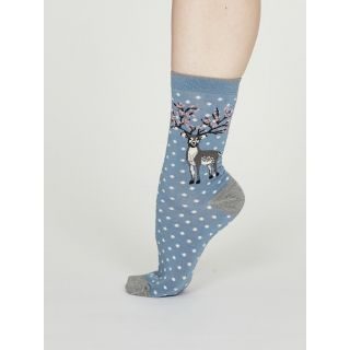 Chaussettes bambou femme motif renne marque Thought