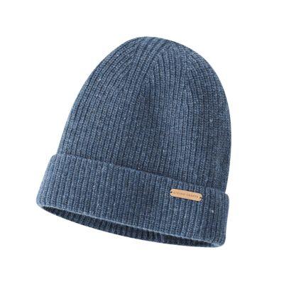 Bonnet 100% laine bio bleu