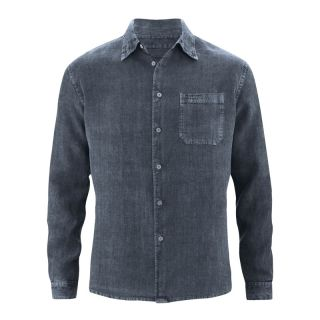 Chemise grise foncée pur chanvre homme