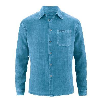Chemise bleu atlantique pur chanvre homme