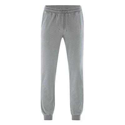 Pantalon de sport gris pierre chanvre coton bio