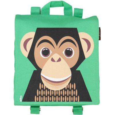 Sac à dos vert Chimpanzé de la marque éthique Coq en Pâte