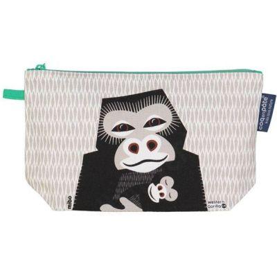 trousse grise gorille en coton bio