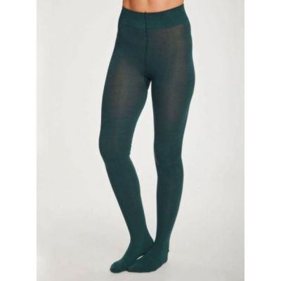 Collants thought bambou vert sarcelle