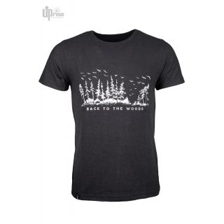 Tee shirt chanvre et coton bio noir back to the woods