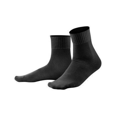 Chaussettes spécial confort noir en coton biologique
