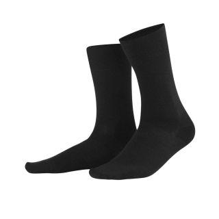 Chaussettes laine et coton biologique noires