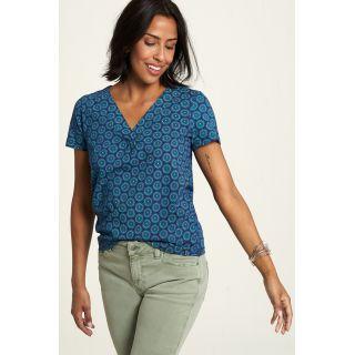 Chemise bleue jersey Tranquillo coton bio