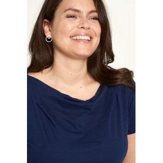 Chemise Jersey unicolore bleue photographie profil
