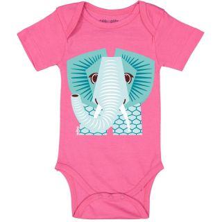 Body bio manches courtes rose éléphant