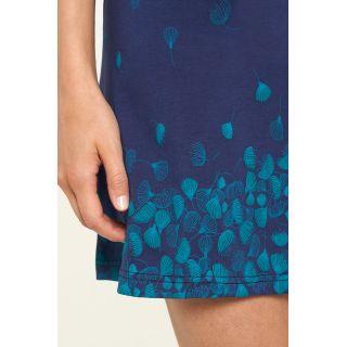 Jupe bleue marine en coton bio profil