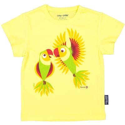 T-Shirt Coton Bio jaune Perruche avant