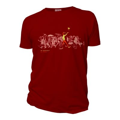 Tee-shirt coton bio Be Different rouge face