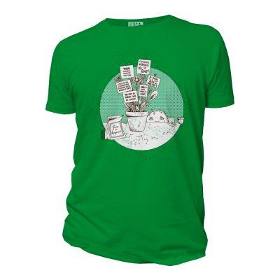 Tee-shirt coton bio Graines de changement vert face