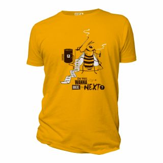 Tee-shirt coton bio jaune Do you wanna be