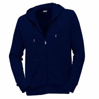 Veste bleue marine en coton bio D'un seul souffle face