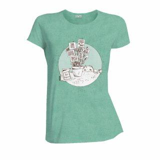 Tee-Shirt en coton bio vert Graines du changement face
