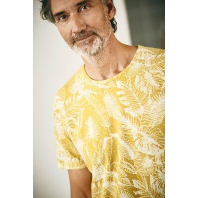T-Shirt écologique jungle manches courtes jaune photographie