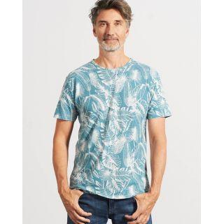 T-Shirt écologique jungle manches courtes bleu photographie