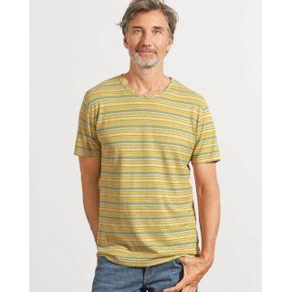 T-Shirt rayé chanvre et coton bio photographie manche courte