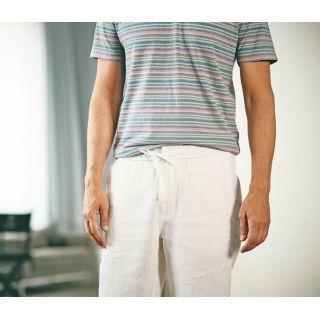 Pantalon 100% Chanvre Hempage blanc photographie