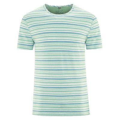T-Shirt rayé chanvre et coton bio vert