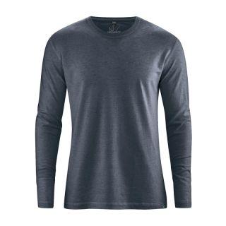 T shirt basique manches longues anthracite, chanvre et coton biologique