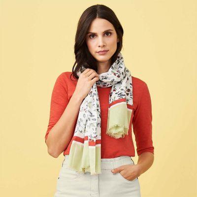 Écharpe femme en coton biologique Living Crafts