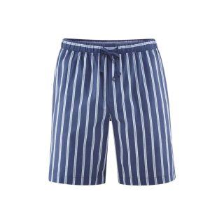 Pantalon de pyjama court rayures bleues