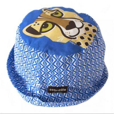 Bob enfant bleu guépard en coton bio