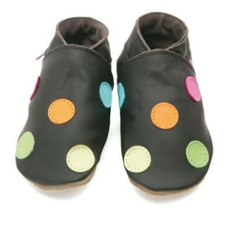 Chaussons Starchild Polka dot chocolat