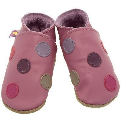 Chaussons Starchild Polka dot rose