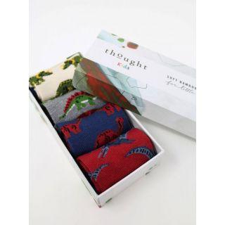 Boîte cadeau 4 paires de chaussettes dinosaures Bamboo pour bébé