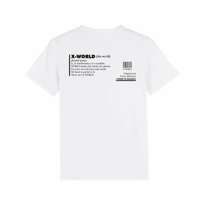 """T-shirt X-WORLD - """"What it means"""""""