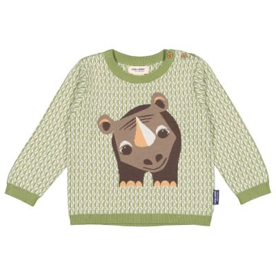 Pull tricot enfant coton bio rhinocéros