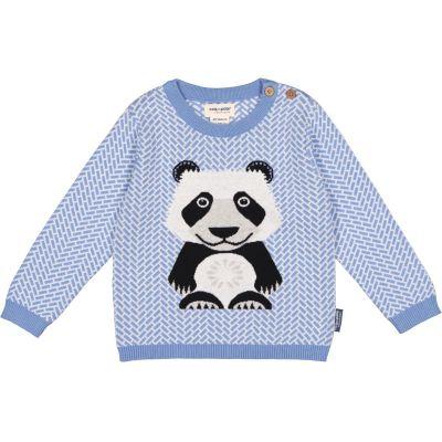 Pull bleu enfant coton bio panda