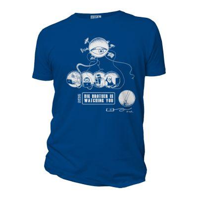 Tee-shirt bleu roi coton bio Big Brother