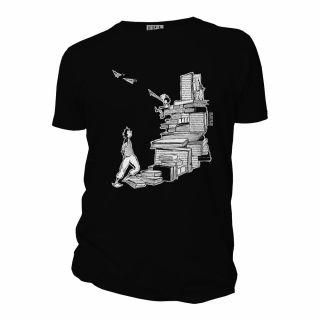 Tee shirt noir manches courtes bio Escalivres