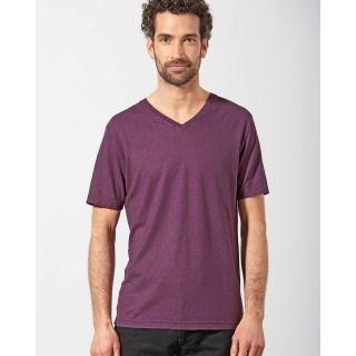 T-shirt homme chanvre manches courtes col V